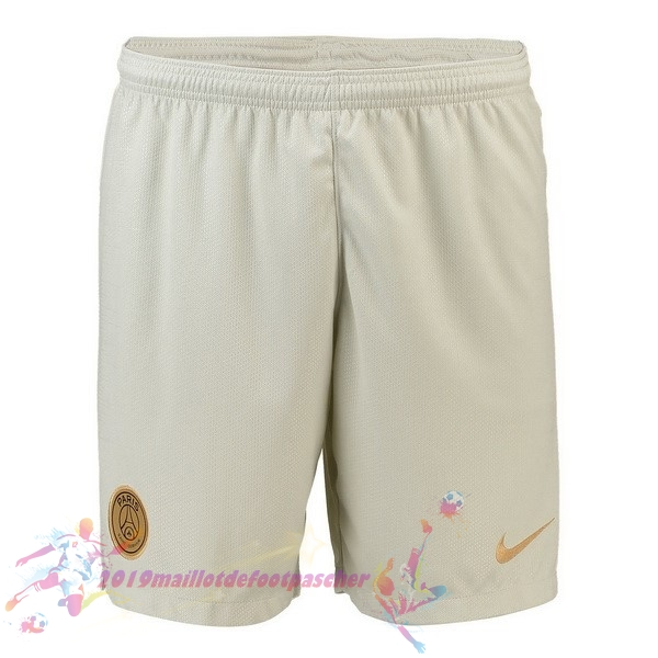 Maillot De Foot Pas Cher Nike Exterieur Shorts Paris Saint Germain 2018 2019 Blanc