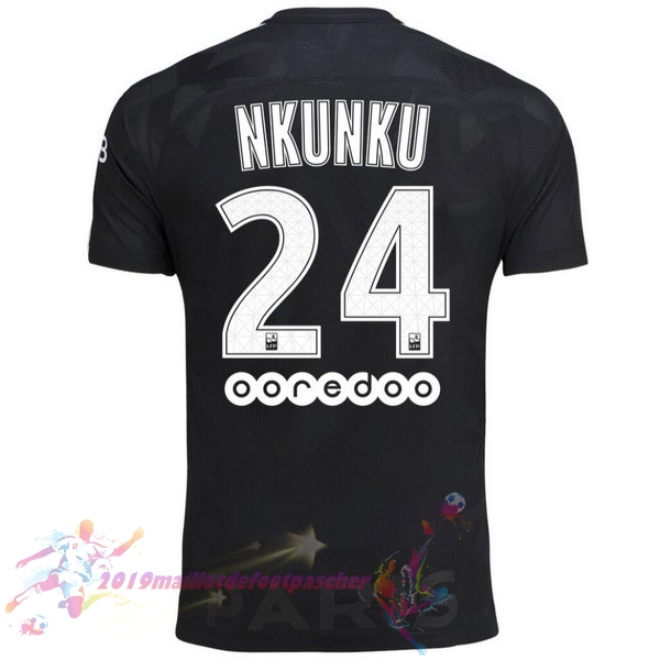 Maillot De Foot Pas Cher Nike NO.24 Nkunku Third Maillots Paris Saint Germain 2017 2018 Noir