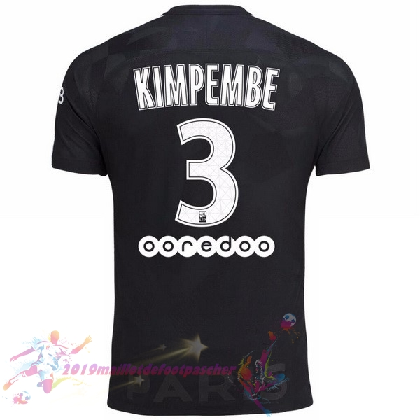 Maillot De Foot Pas Cher Nike NO.3 Kimpembe Third Maillots Paris Saint Germain 2017 2018 Noir
