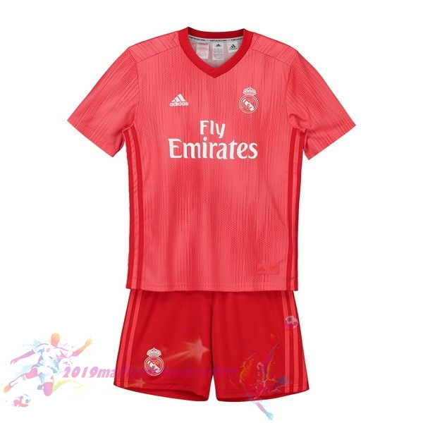 Maillot De Foot Pas Cher adidas Third Ensemble Enfant Real Madrid 2018-2019 Rouge