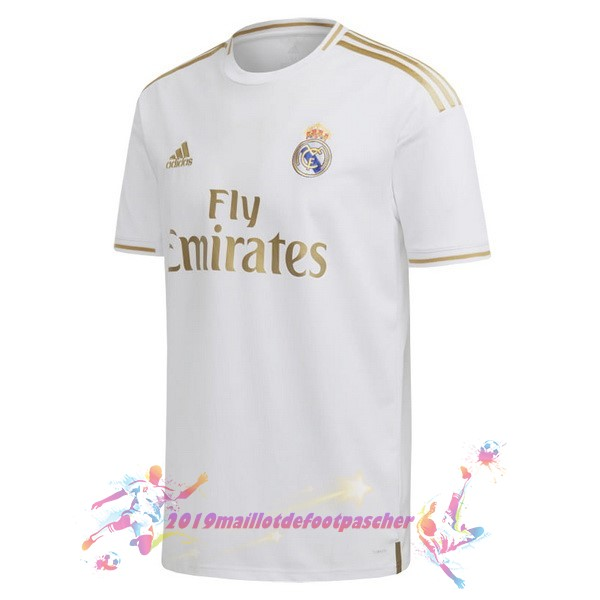 Maillot De Foot Pas Cher adidas Domicile Maillot Real Madrid 2019 2020 Blanc