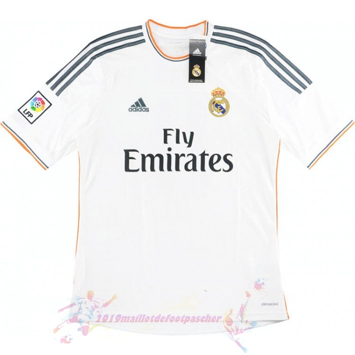 Maillot De Foot Pas Cher adidas Domicile Maillot Real Madrid Retro 2013 2014 Blanc