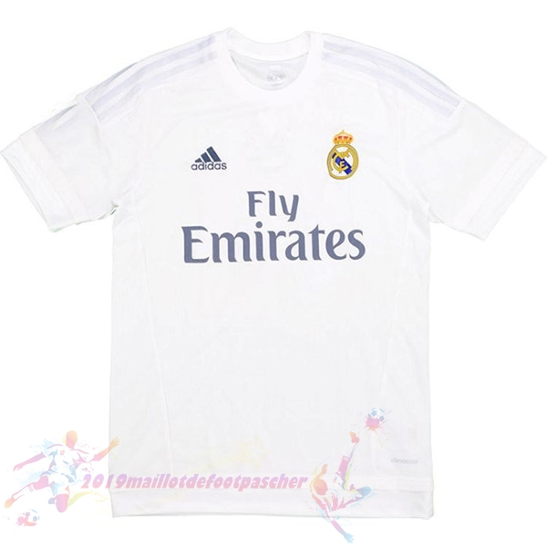 Maillot De Foot Pas Cher adidas Domicile Maillot Real Madrid Retro 2015 2016 Blanc