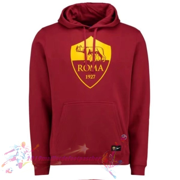 Maillot De Foot Pas Cher Nike Sweat Shirt Capuche AS Roma 2017 2018 Rouge